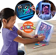 Discovery Kids Neon LED Glow Drawing Board with 4 Fluorescent Markers