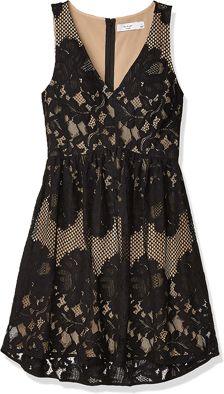 Ali & Jay Women's La Grande Roue Mini Lace Babydoll Sleeveless Short Dress