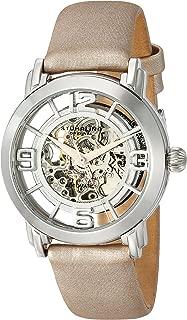Stuhrling Original Women's 156.121S2 Lady Winchester Automatic Skeleton Tan Satin Strap Watch