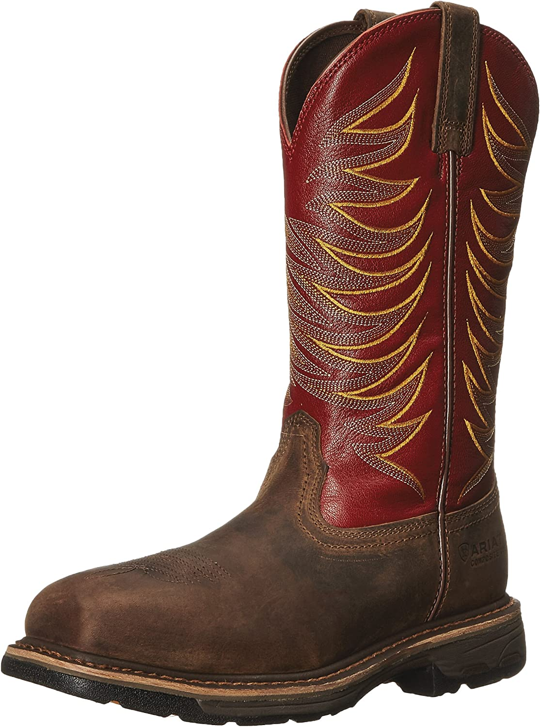 Ariat Men's Workhog Wide Square Toe Tall II Compositie Toe Distressed Boot