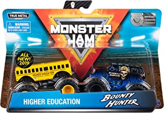 Monster Jam Official Higher Education vs. Bounty Hunter Die-Cast Monster Trucks, 1:64 Scale, 2 Pack