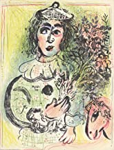 marc chagall clown with flowers