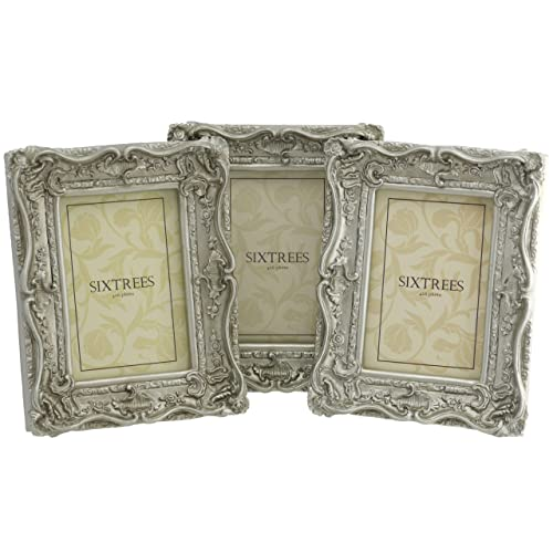6e7cc79a49c TRIPLEPACK Shabby Chic Style Very Ornate Antique Silver Photo Frames for a  6