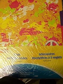 Staples Decorative 5-tab Writable Dividers (21261) ~ A Splash of Peace