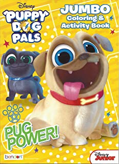 Disney Puppy Dog Pals Jumbo Coloring & Activity Book, Pug Power