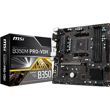 MSI Gaming AMD Ryzen B350 DDR4 VR Ready HDMI USB 3 CFX Micro-ATX Motherboard