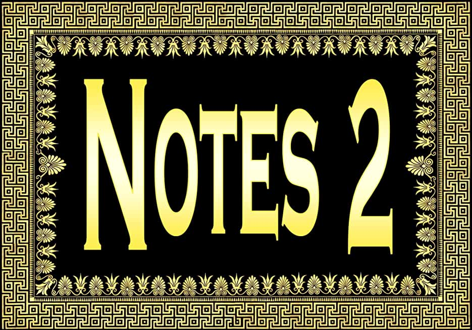 Notes 2 ... (a Greek Design) (English Edition)