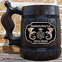 Dungeon Master Beer Mug, Dungeons & Dragons Beer Stein, Gamer Gift, Personalized Beer Stein, DnD Tankard, Custom Gift for Men, DM Gift for Him