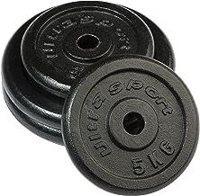 Ultrasport halterschijven, set van 4 haltergewichten, 15 kg of 25 kg, standaard boring van 30 mm, te gebruiken met korte h...