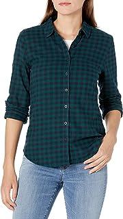 Amazon Brand - Goodthreads Women's Flannel Slim Fit Long Sleeve Shirt