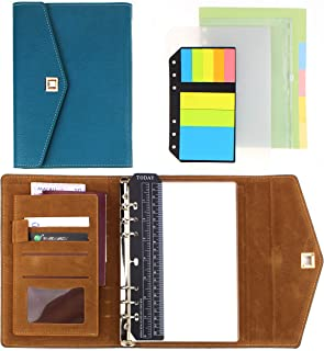 """SynLiZy A5 PU Leather Personal Organizer Undated Planner 7.3"""" x 9.06"""" with 12 Accessories,Thick Paper,Refillable Loose Leaf photo"""