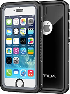 OTBBA iPhone 6/6s Waterproof Case, Sandproof IP68 Certified with Touch ID Shockproof Snowproof Full Body Cover for iPhone 6/6s (Black)