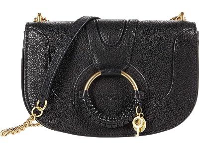 See by Chloe Hana Chain Crossbody Bag (Black) Cross Body Handbags