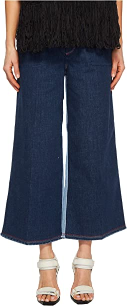 Wide Leg Stretch Denim