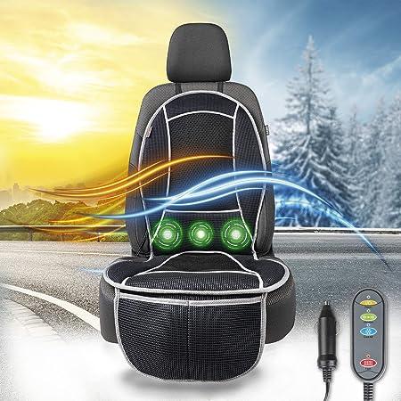 Walser 16650 Sitzauflage Coolheat Atmungsaktiver Sitzaufleger Mit Kühlung Und Massagefunktion Sitzschoner Mit Kühl Und Heizfunktion Für Pkw Lkw Auto