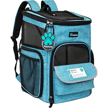 Great for Travel KABB Dog Carrier Backpack Airline Approved Comfort Good Ventilation Pet Carrier Backpack for Small Dogs Large Cats up to 15 LBS Hiking Walking and Outdoor Use