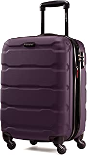 Samsonite Omni PC Hardside Expandable Luggage with Spinner Wheels, Purple, Carry-On 20-Inch