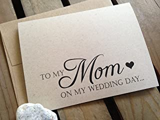 To My MOM on my WEDDING Day - Note Card - Kraft Brown - RUSTIC - Recycled - Eco Friendly