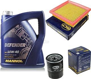 Filter Set Inspektionspaket 5 Liter MANNOL Motoröl Defender 10W 40 API SL/CF SCT Germany Luftfilter Ölfilter