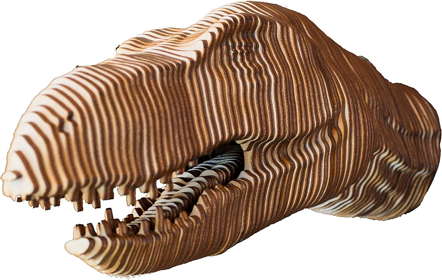 Crafts - 3D Raptor Head Puzzle Kit Small Wood Model store Raw Max 42% OFF