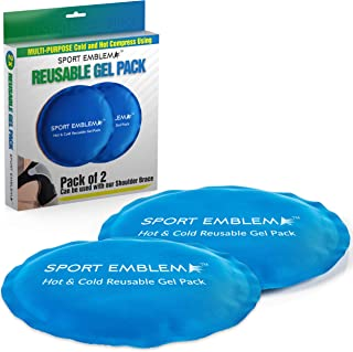 Gel Ice Packs for Injuries Reusable - (2 Cold Packs x 5.5 Inches) - Hot Cold Compress for Kids or Adults, Microwavable and Refreezable, Ice Pack for Injury Shoulder, Head, Neck, Foot, Knee, Elbow