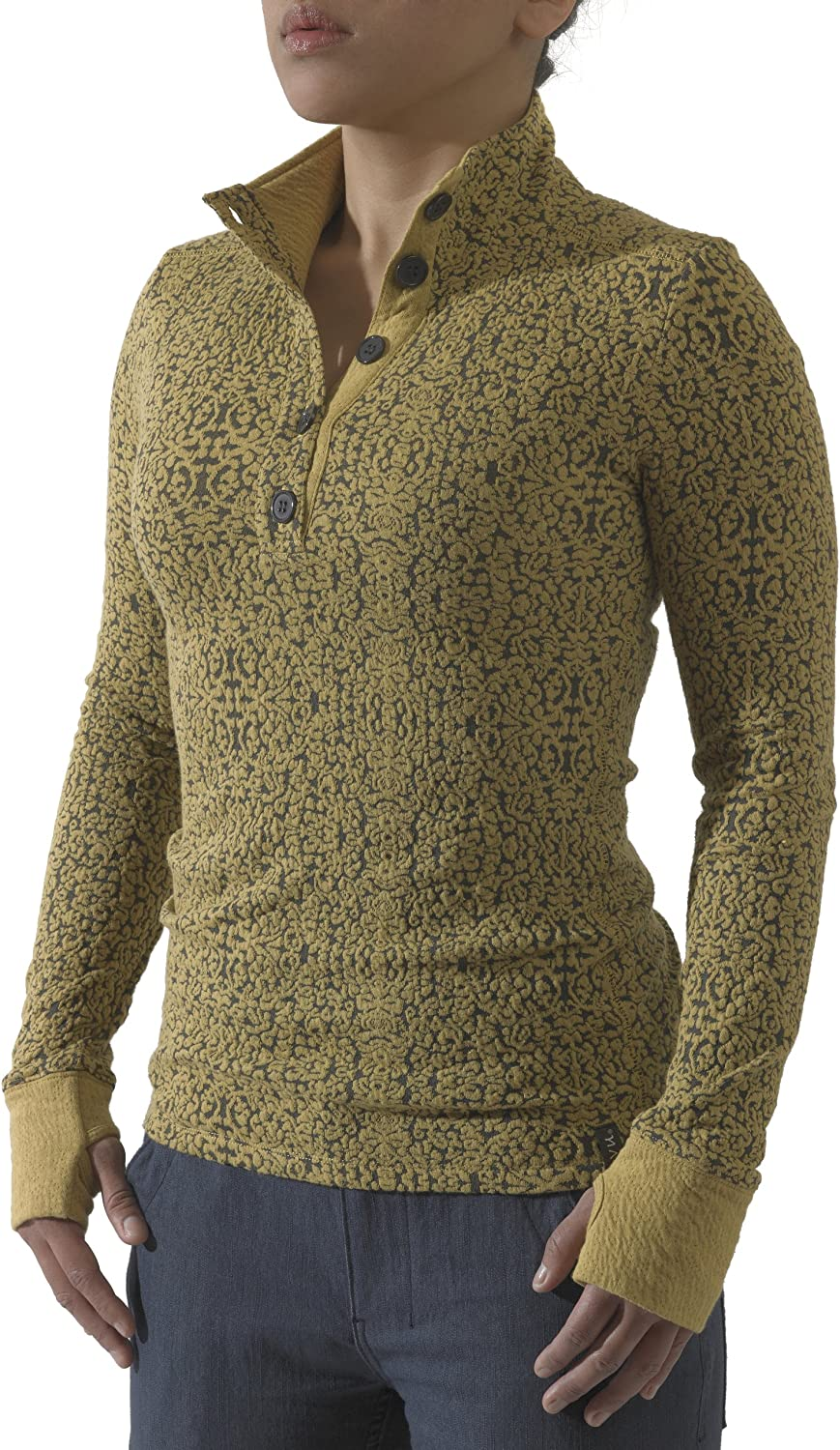 KAVU Lopez Spandex Button Up - Yoga Crew Outdoors Sweater Neck Year-end annual account Popularity