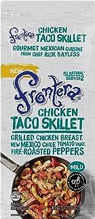 FRONTERA Chicken Taco Skillet Frozen Meal, Two Servings, Medium, Keto Friendly, 20 oz.