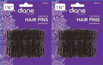 دبابيس شعر بطول 1.75 سم، لون أسود، مجموعة 100 بطاقة 2 Pack