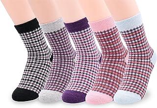 Women's Vintage Knitting Warm Fun Wool Crew Winter Socks Multi Pack