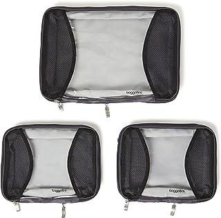Baggallini 4 Medium/ 1 Large Compression Cubes, Dark Grey Camo