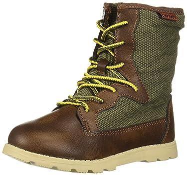 Carter's Boys's Bro Casual Sneaker Boot, Dark Brown