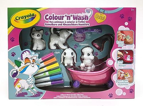 Crayola - Washimals - Mes Animaux à Colorier - Coffret - Loisir créatif - washimals - Color N wash - à partir de 3 an...