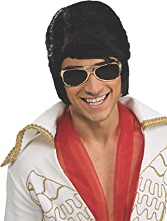 Costume Elvis Wig and Glasses Accessory Set