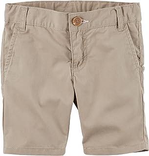 Carter's Girl's Khaki Flat Front Poplin Shorts (8)