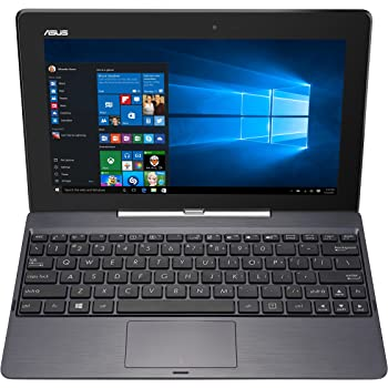 """ASUS T100TAF-W10-DK078T - Portátil de 10.1"""" (Intel Atom Z3735F, 2 GB de RAM, Tarjeta Grafica integrada) Gris - Teclado QWERTY Español"""