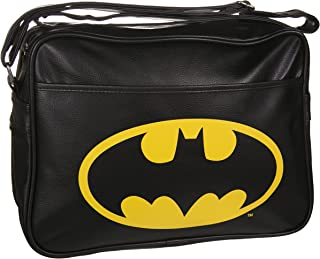 Batman - Bolso bandolera con logotipo, acero inoxidable, color blanco, 9 x 4 x 4 cm