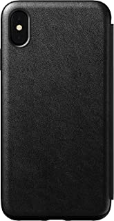 Nomad Tri-Folio for iPhone Xs Max | Black Horween Leather