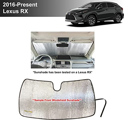 high quality YelloPro Custom Fit Automotive Reflective high quality Front Windshield Sunshade Accessories UV Reflector Sun Protection for 2016 2017 2018 2019 2020 2021 popular Lexus RX RX350 RX350L RX450H RX450HL, Base, F Sport SUV sale