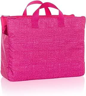 Thirty One Super Swap-It-Pocket in Pink Crosshatch - No Monogram - 8700