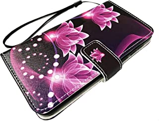 For ZTE Maven 3 Z835 / Overture 3 / Prelude Plus + Z851 Wallet Credit Card Pouch Protective Case Phone Cover + Gift Stand (Wallet Purple Lotus)