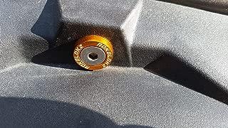 RokBlokz Dress Up Kit - Washers Bolts Accessories for Polaris RZR 1000 - Anodized Aluminum for Fender Engine Bay for UTV (Orange Washers)