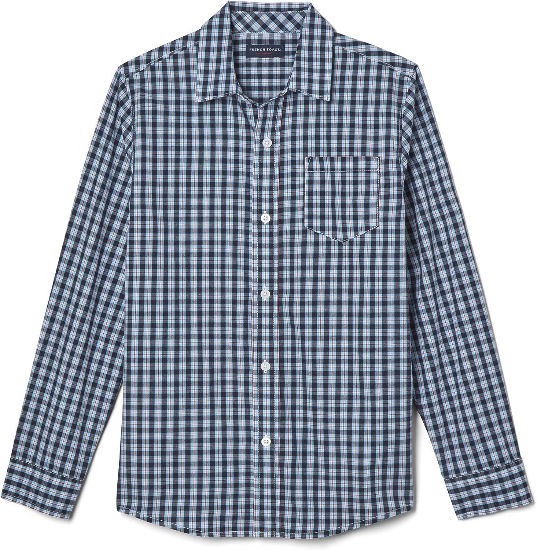 French Toast Boys' Long Sleeve Plaid Shirt