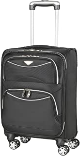 Flight Knight Lightweight 8 Wheel 1680D Soft Case Suitcases Maximum Size For Delta, United and SkyWest Airlines - Cabin Black FFK0040_S