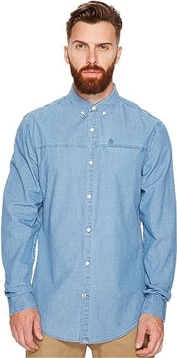 Long Sleeve Washed Indigo Woven Shirt