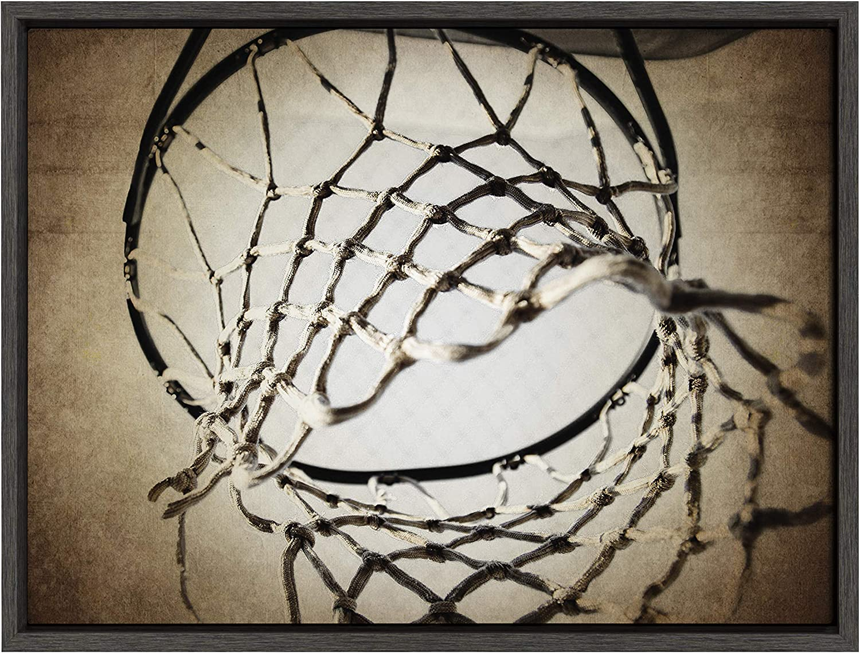 DesignOvation Sylvie Basketball Ultra-Cheap Deals Net 100% quality warranty Framed Art Canvas Sh by Wall