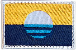 People's Flag of Milwaukee Embroidered Iron-On / Sew-On City Flag Patch (Standard)