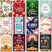 Lovely Flag Seasonal Garden Flag Set of 12 | Premium Material Holiday Flags 12