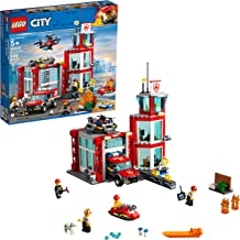 LEGO City Fire Station 60215 Fire Rescue Tower Building Set with Emergency Vehicle Toys includes Firefighter Minifigures for Creative Play, 2019 (509 Pieces)