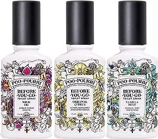 Poo-Pourri Before You Go Toilet Spray Original Citrus, Vanilla Mint and Wild Fig 4 Ounce Bottles