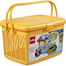Cello Multimate Polypropylene Jumbo Utility Basket, Yellow